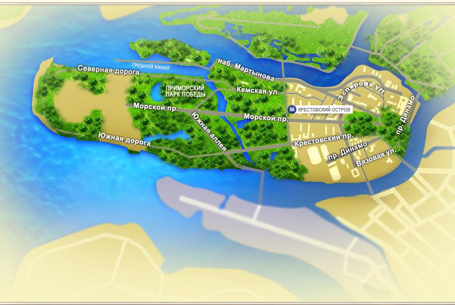 Карта приморского района санкт
